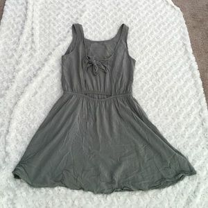 Trendy back cut out with tie sundress Forever 21